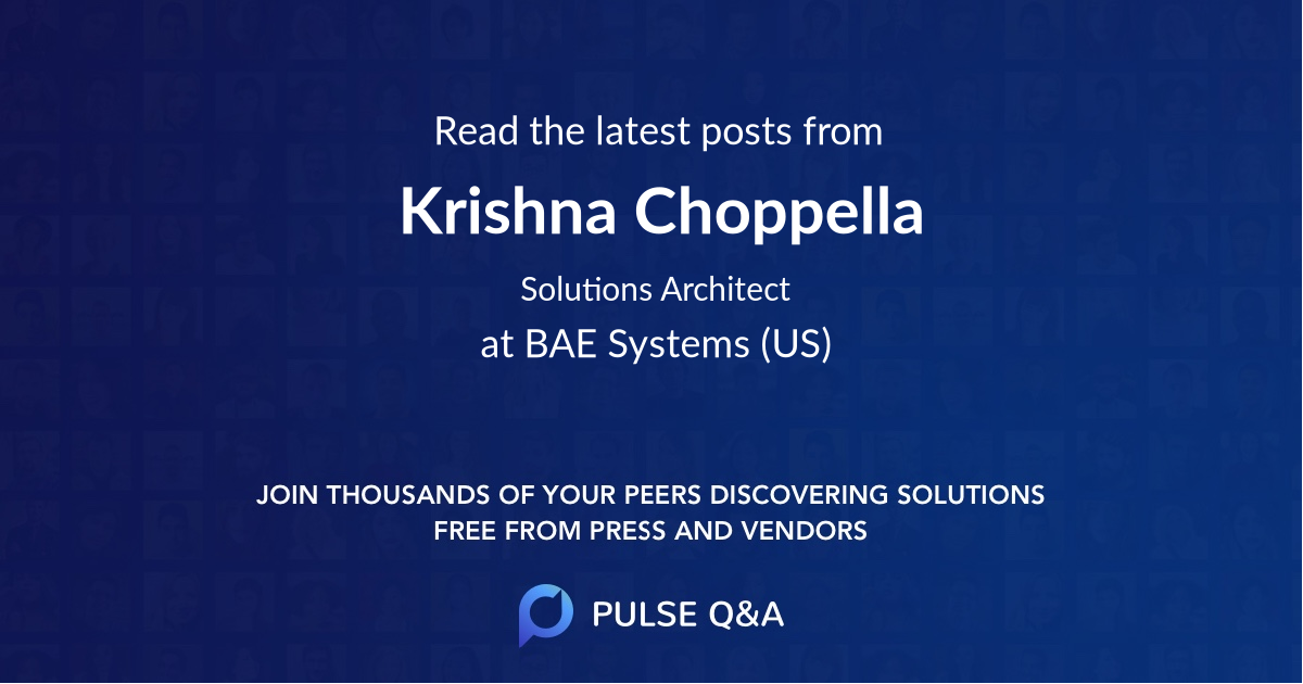 Krishna Choppella