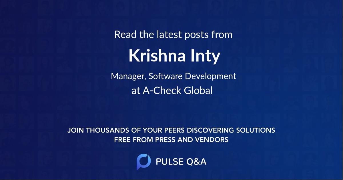 Krishna Inty