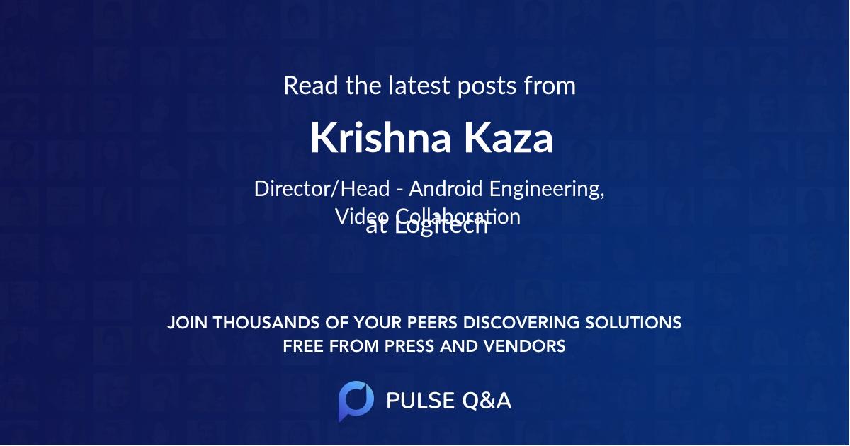 Krishna Kaza