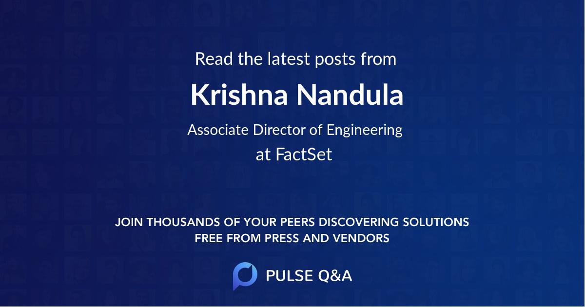 Krishna Nandula