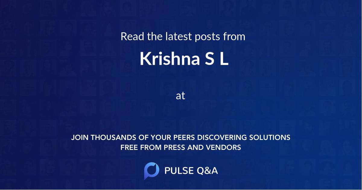 Krishna S L
