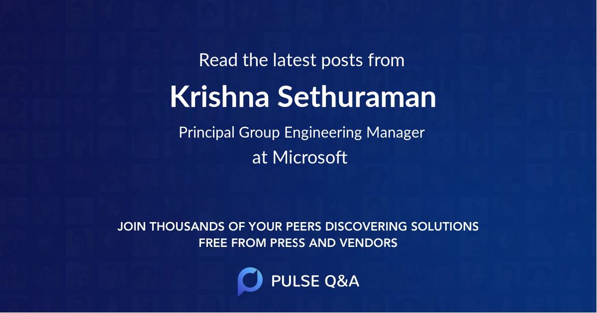 Krishna Sethuraman