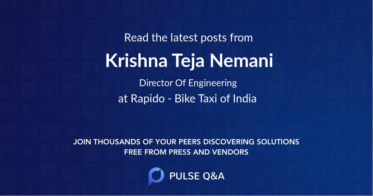 Krishna Teja Nemani