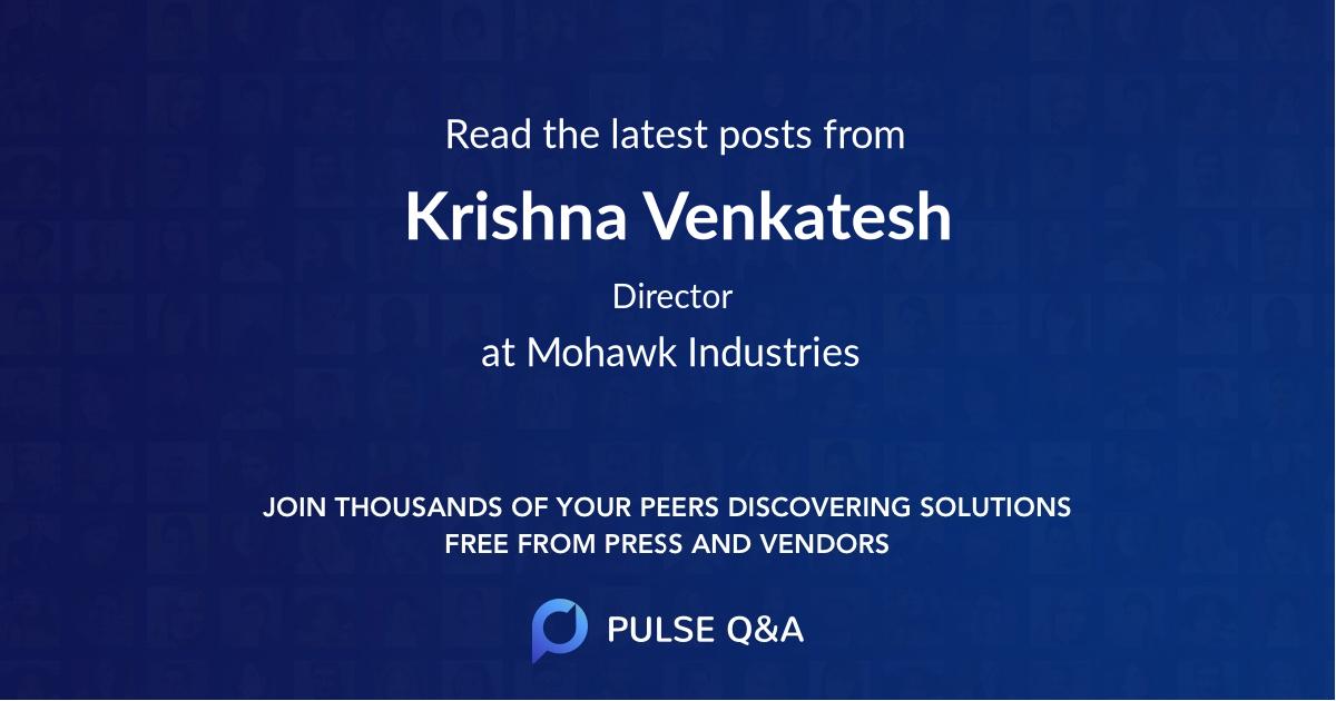 Krishna Venkatesh