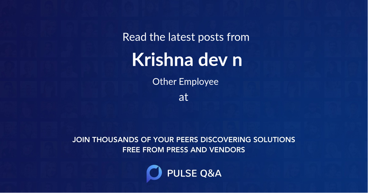 Krishna dev n
