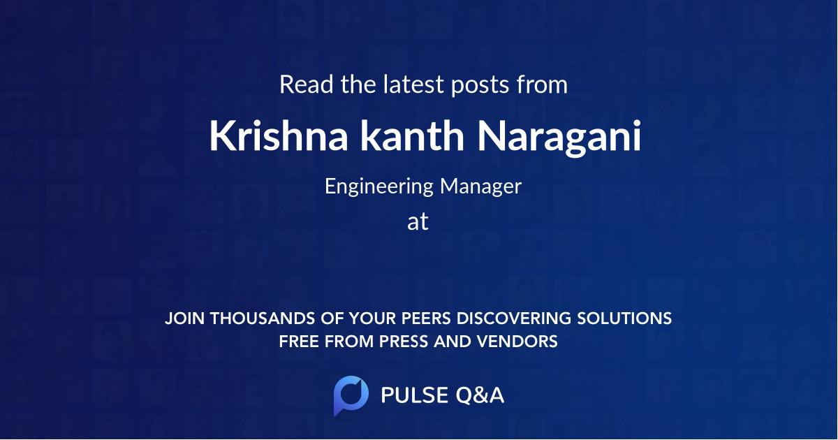 Krishna kanth Naragani