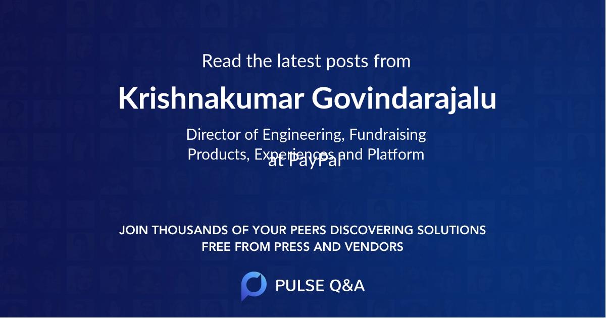 Krishnakumar Govindarajalu