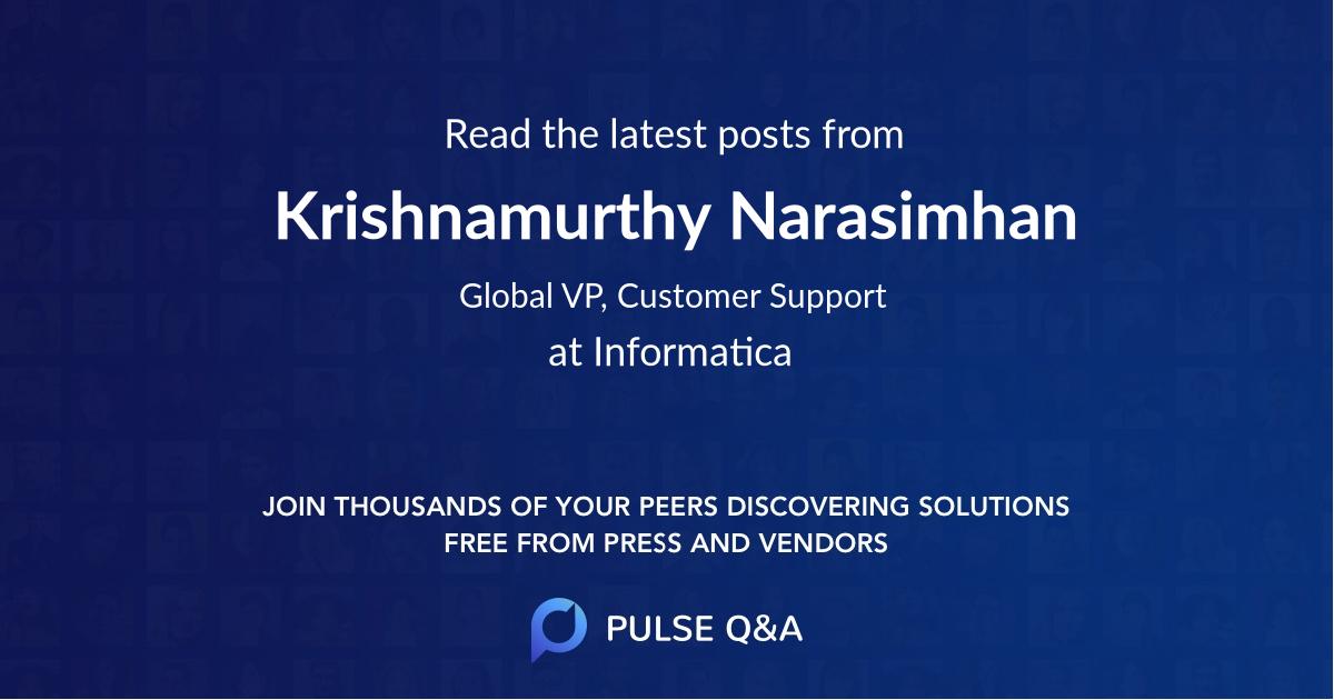 Krishnamurthy Narasimhan