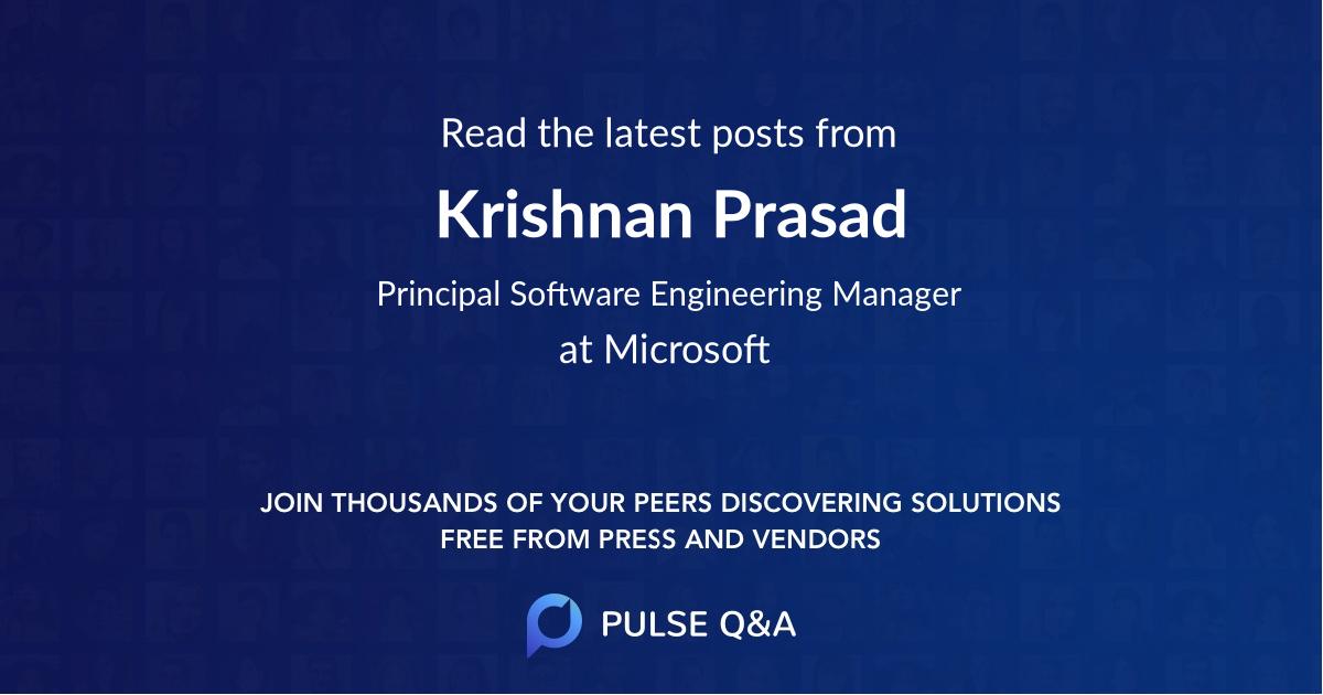 Krishnan Prasad