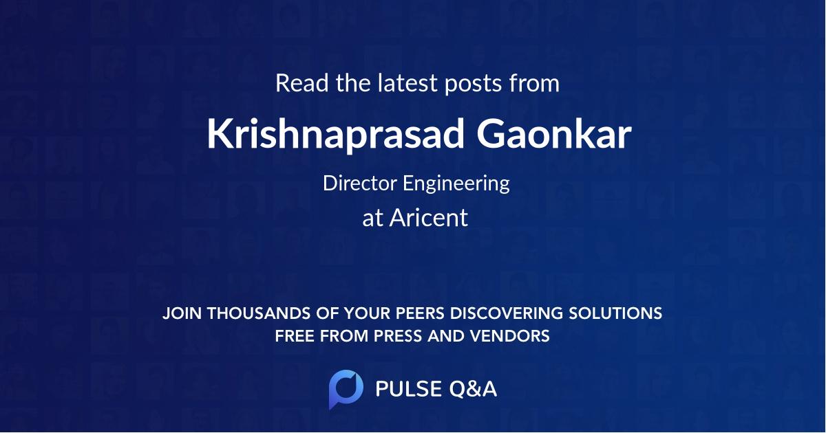 Krishnaprasad Gaonkar