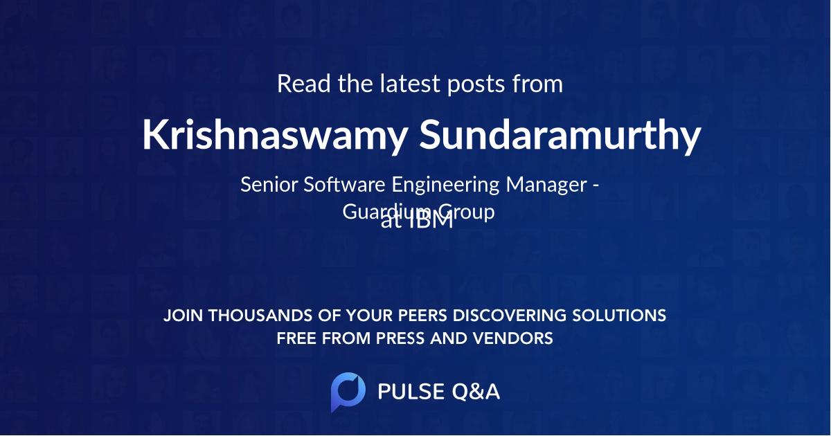 Krishnaswamy Sundaramurthy