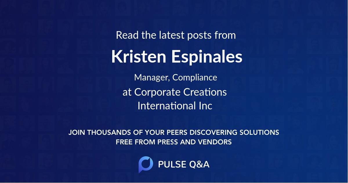 Kristen Espinales