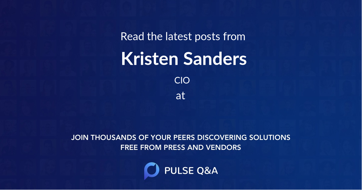 Kristen Sanders