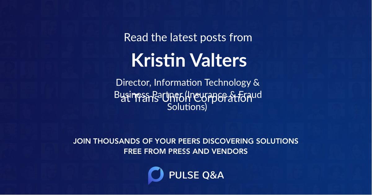 Kristin Valters
