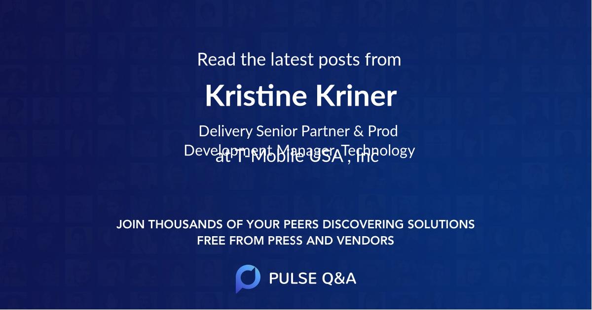 Kristine Kriner