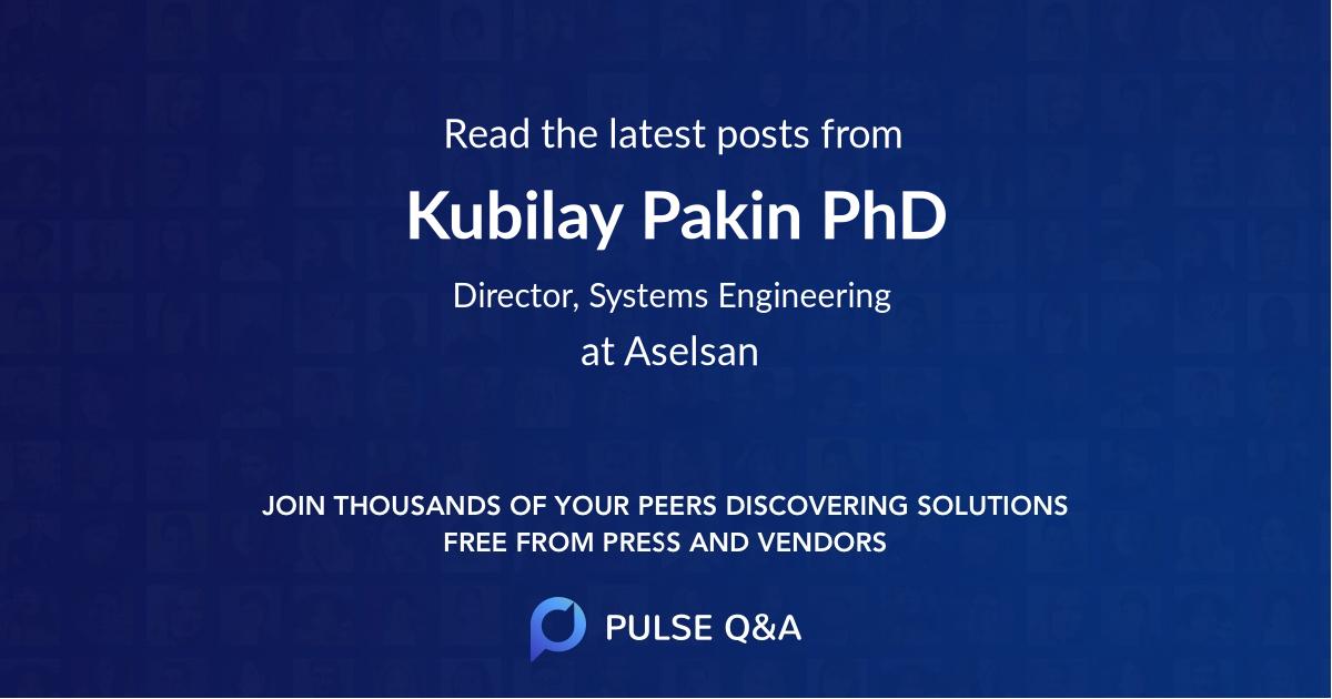 Kubilay Pakin PhD