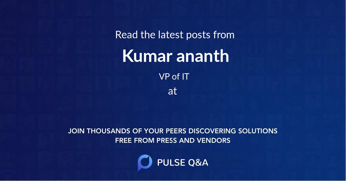 Kumar ananth