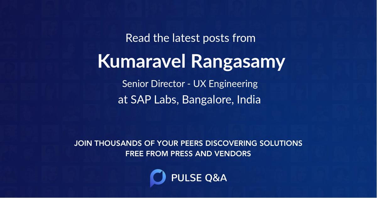 Kumaravel Rangasamy
