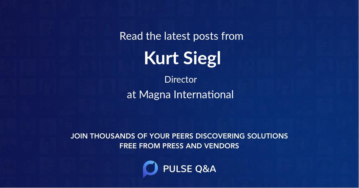 Kurt Siegl