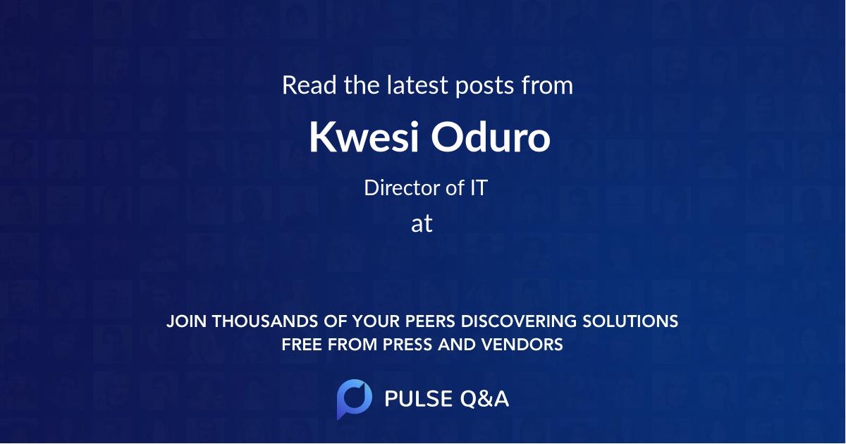 Kwesi Oduro