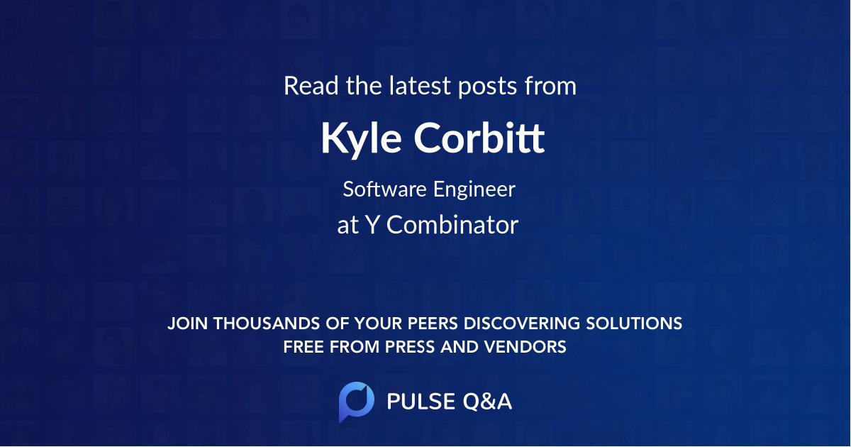 Kyle Corbitt