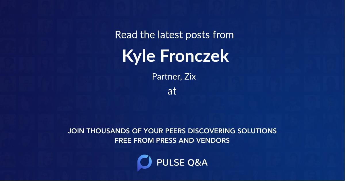 Kyle Fronczek