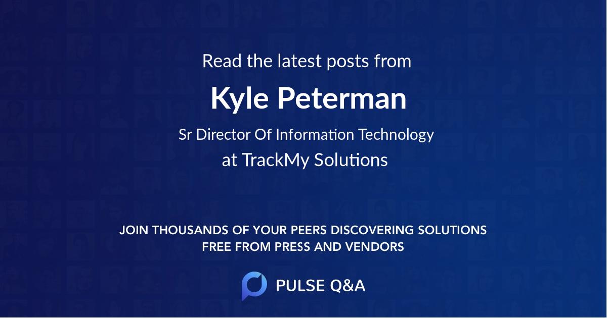Kyle Peterman