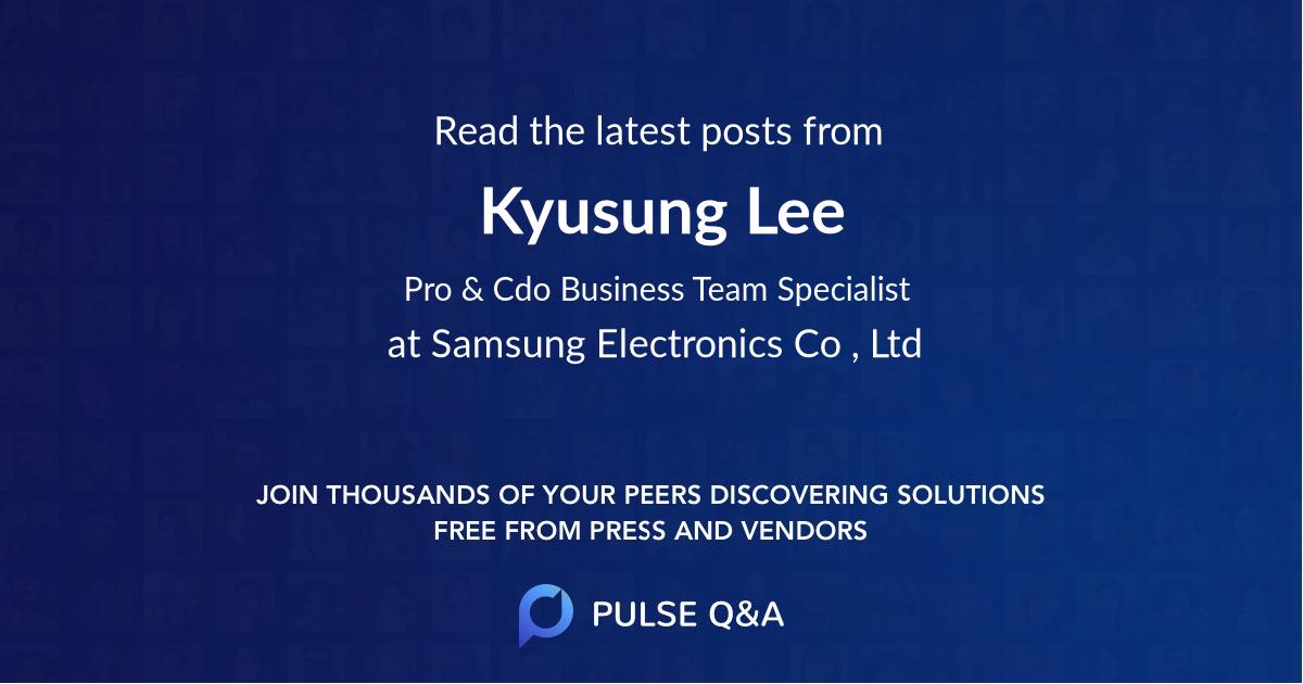 Kyusung Lee
