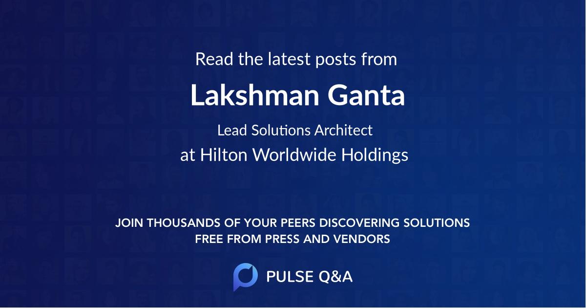 Lakshman Ganta
