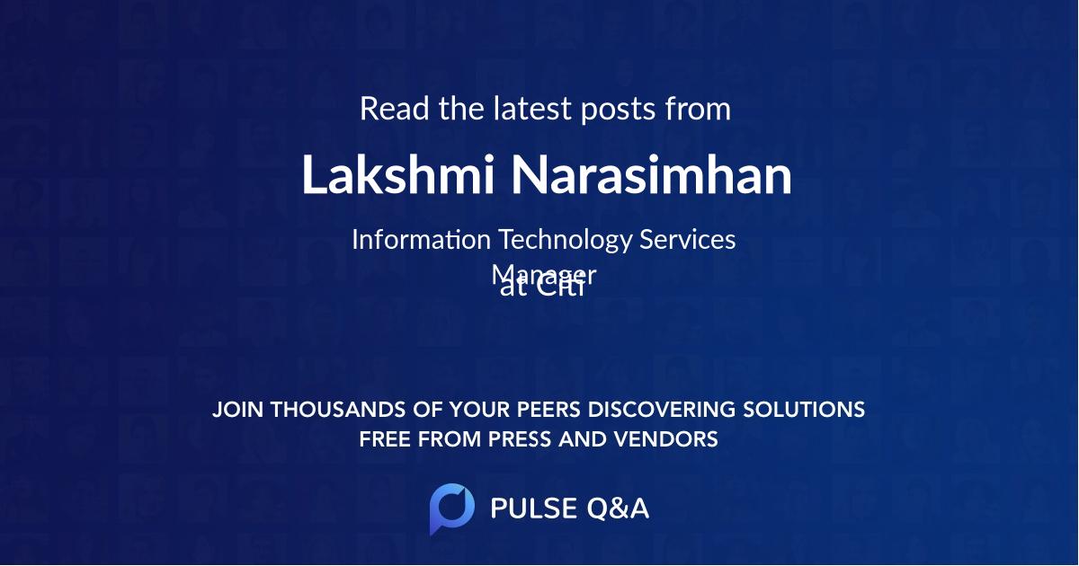 Lakshmi Narasimhan
