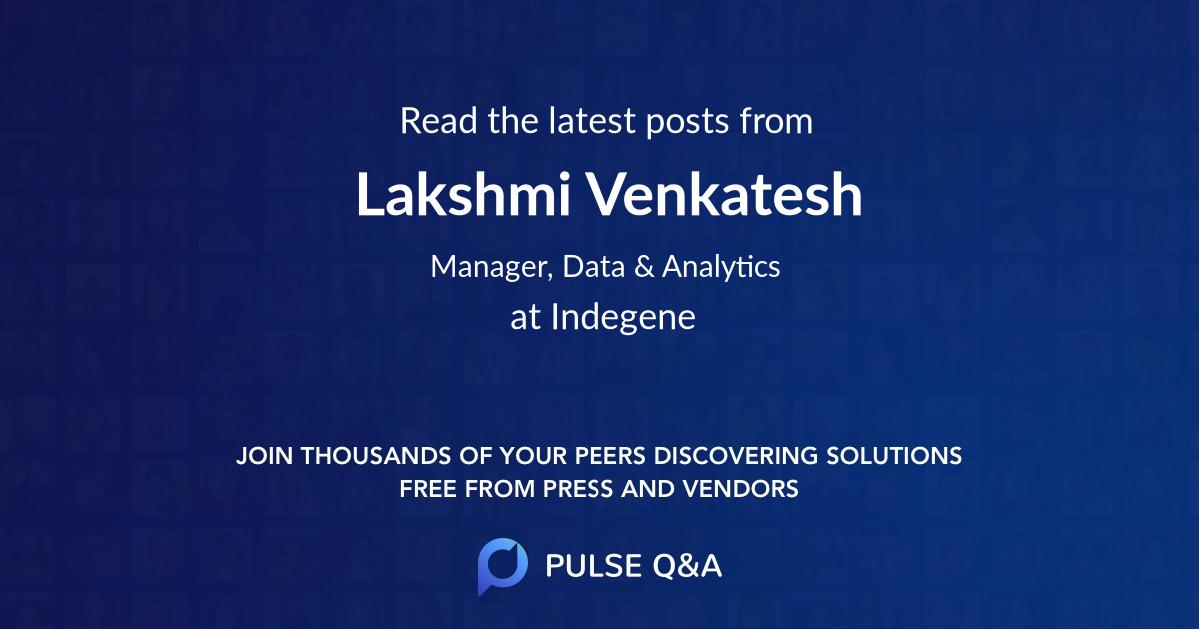 Lakshmi Venkatesh