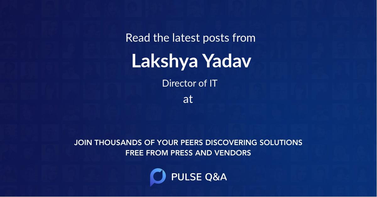 Lakshya Yadav
