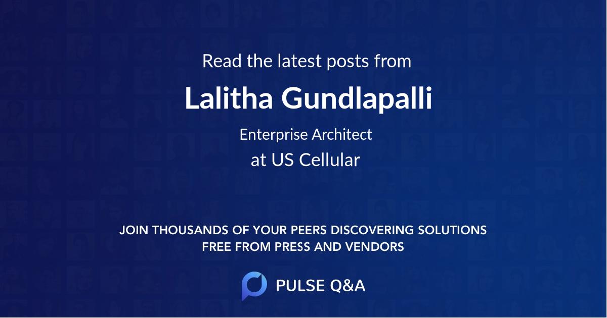 Lalitha Gundlapalli