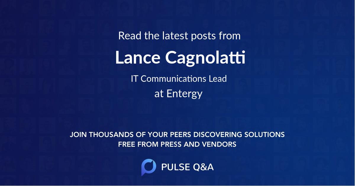 Lance Cagnolatti