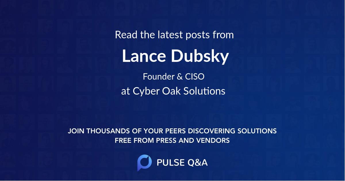 Lance Dubsky