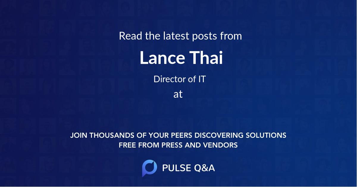 Lance Thai
