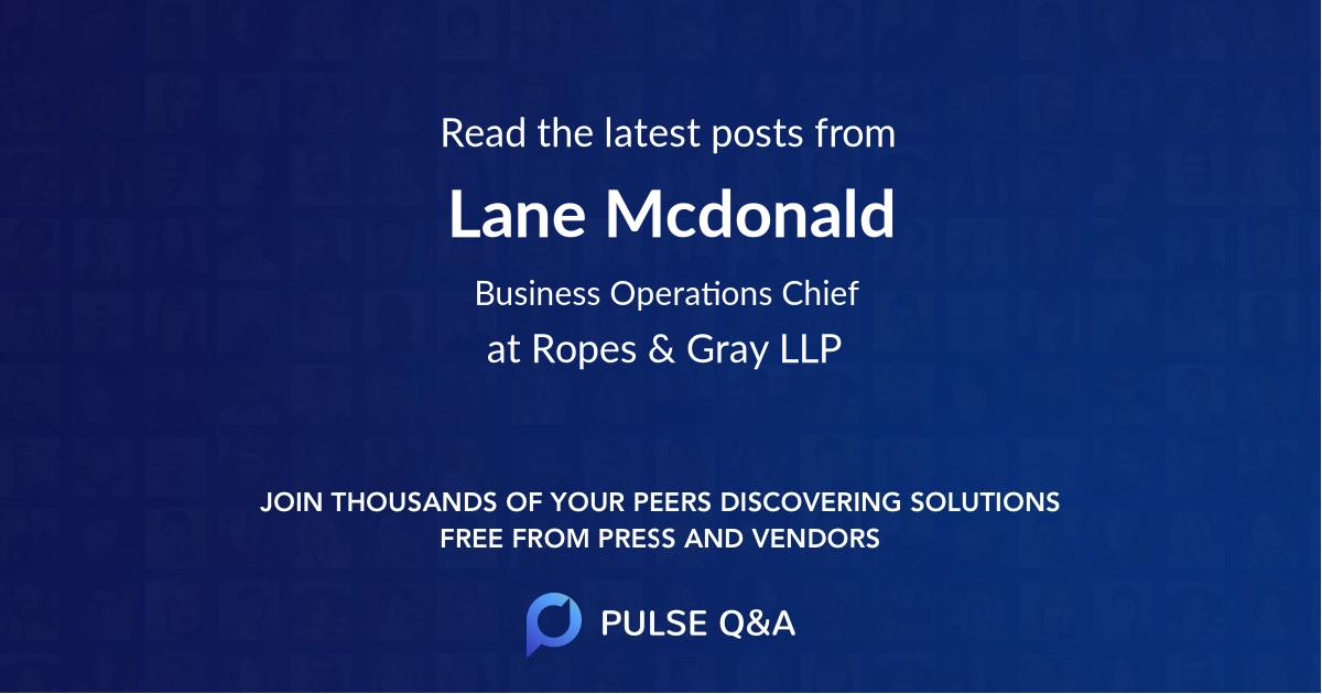 Lane Mcdonald