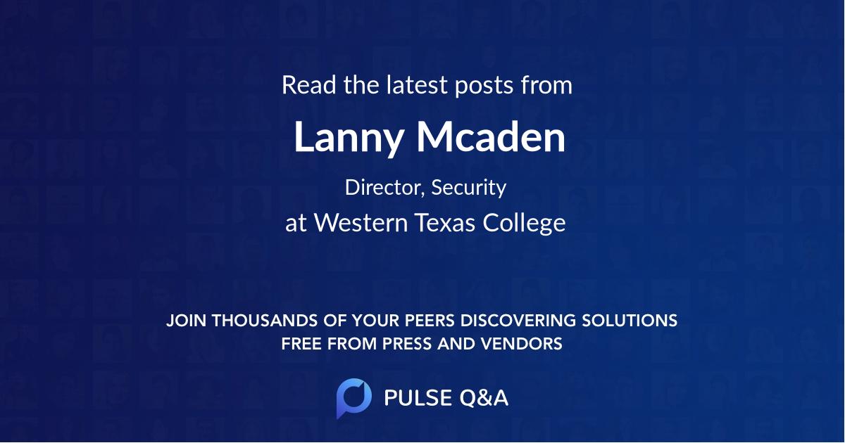 Lanny Mcaden