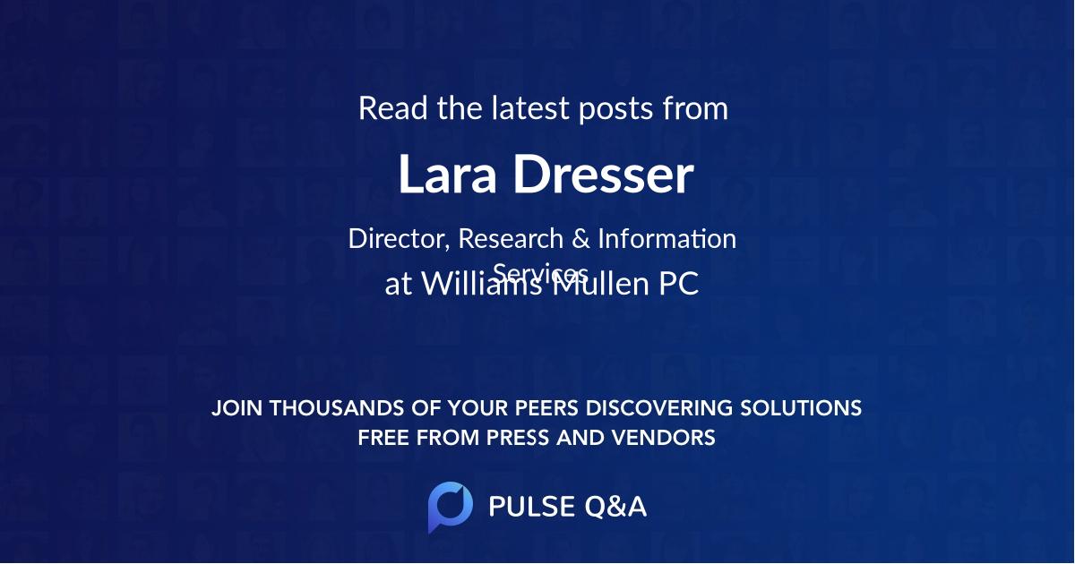 Lara Dresser