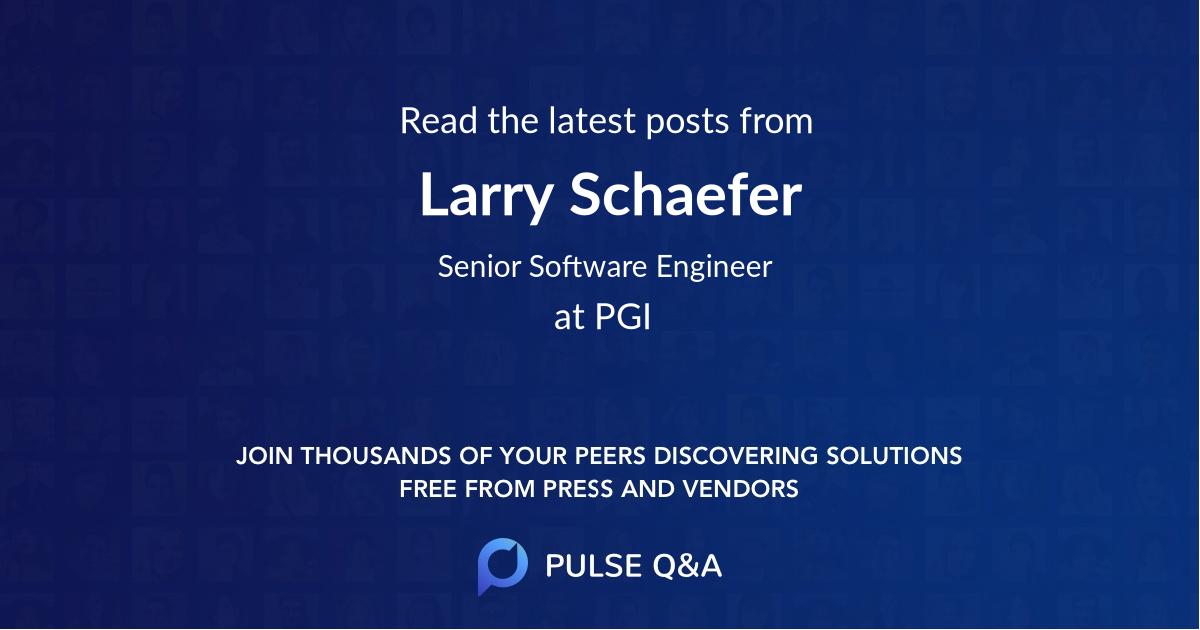 Larry Schaefer
