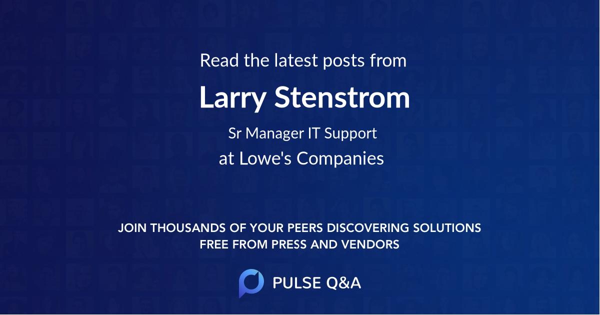 Larry Stenstrom