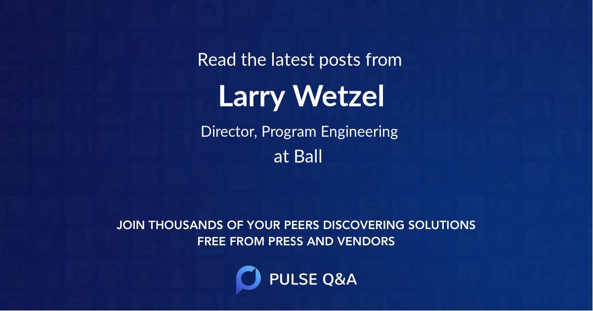 Larry Wetzel