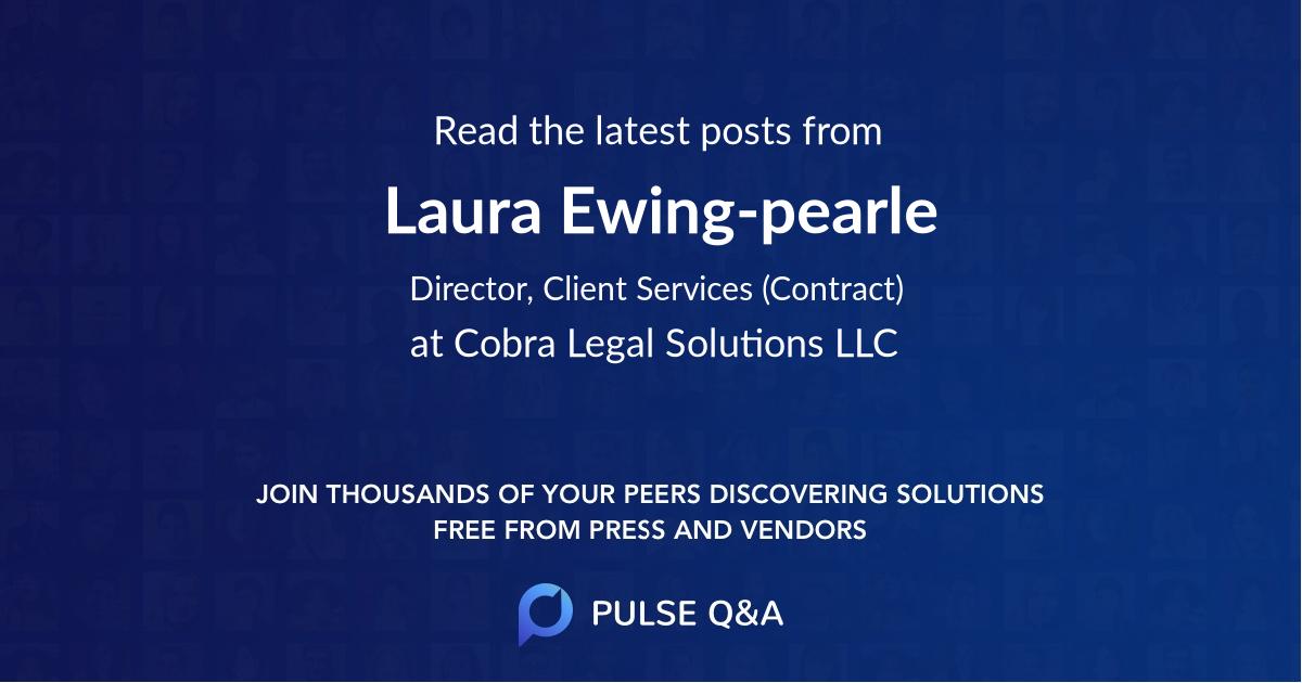 Laura Ewing-pearle