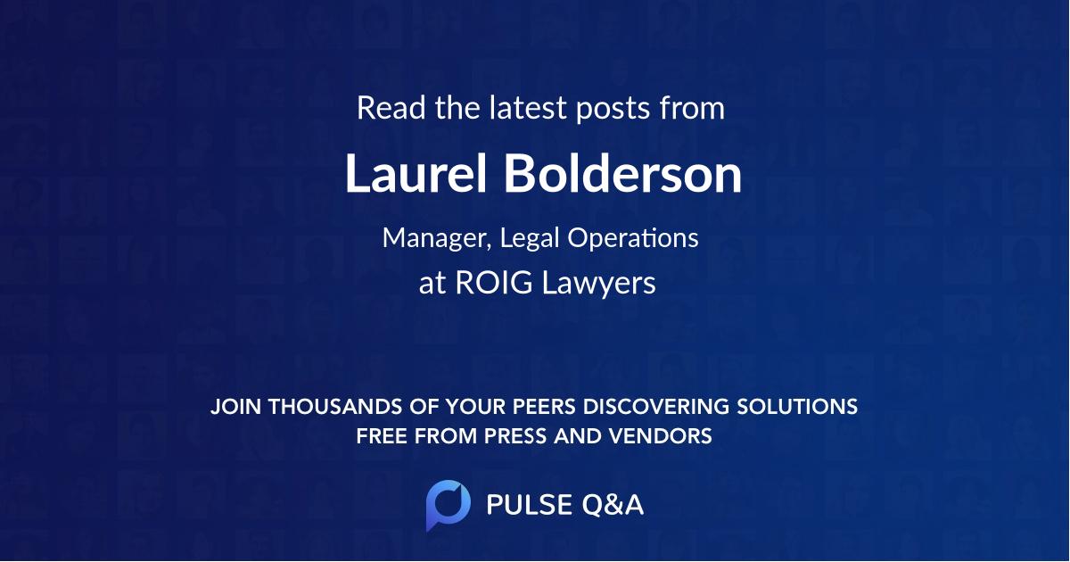 Laurel Bolderson