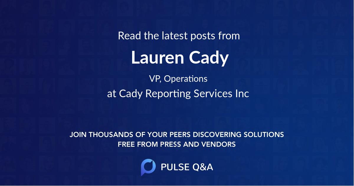 Lauren Cady