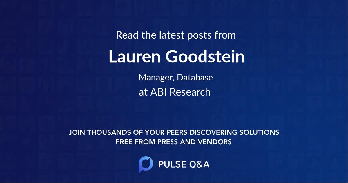 Lauren Goodstein