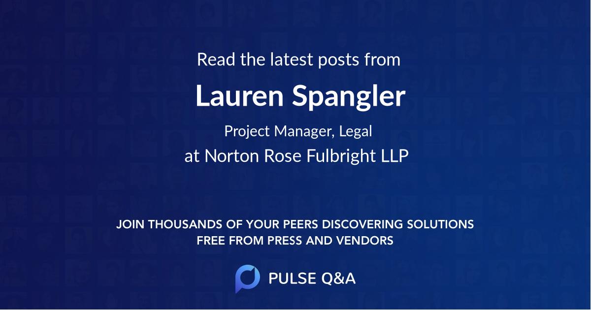 Lauren Spangler