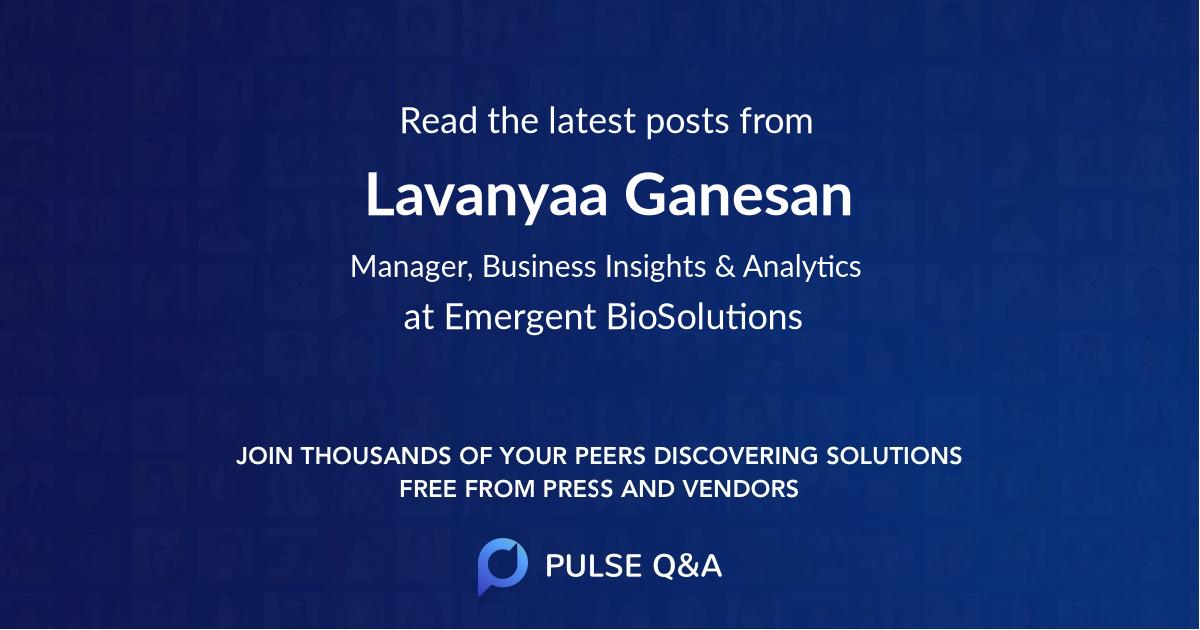Lavanyaa Ganesan