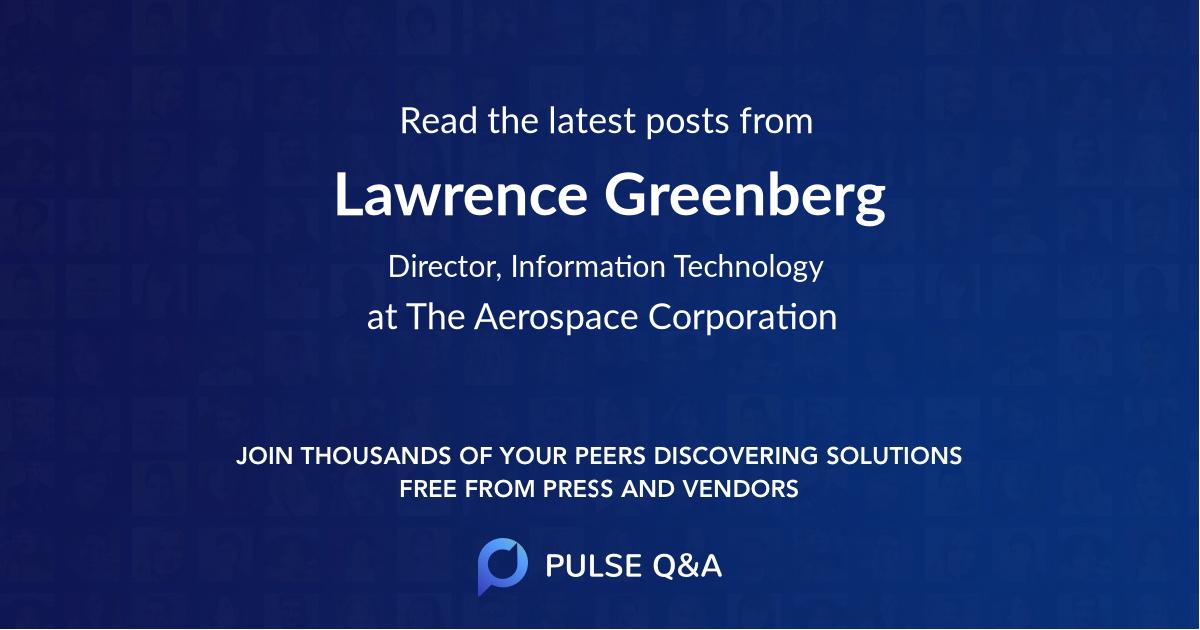 Lawrence Greenberg