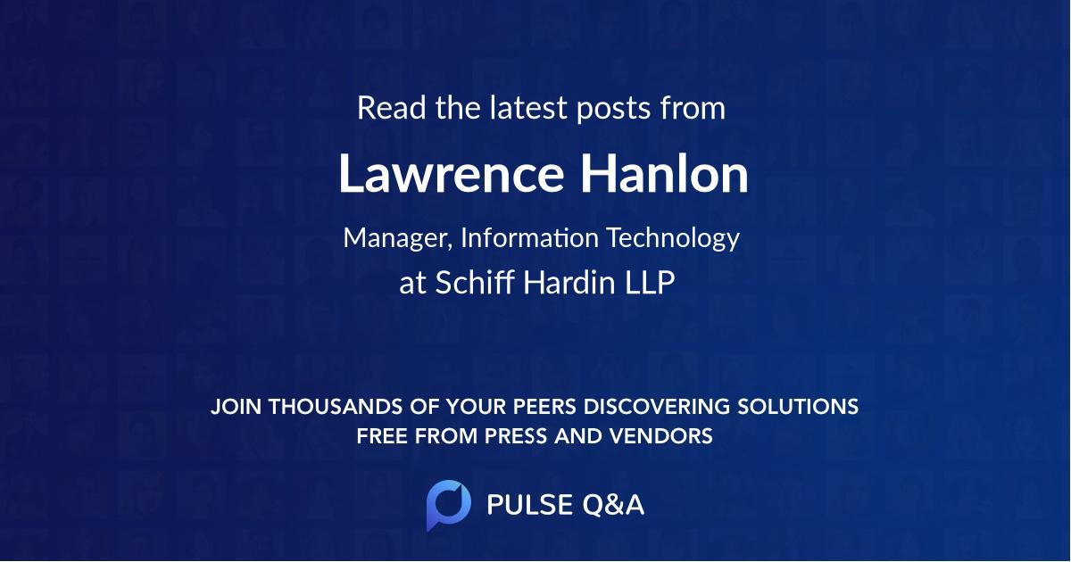 Lawrence Hanlon